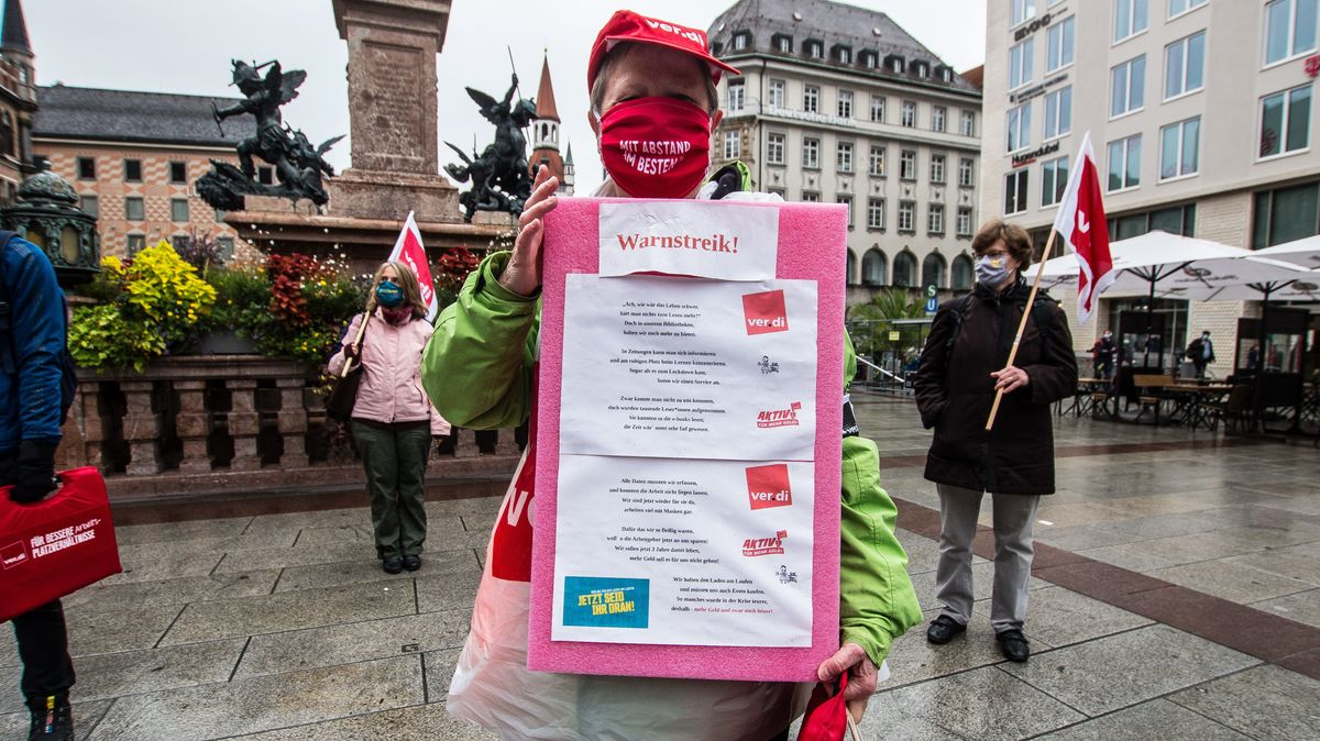 Streikende in München