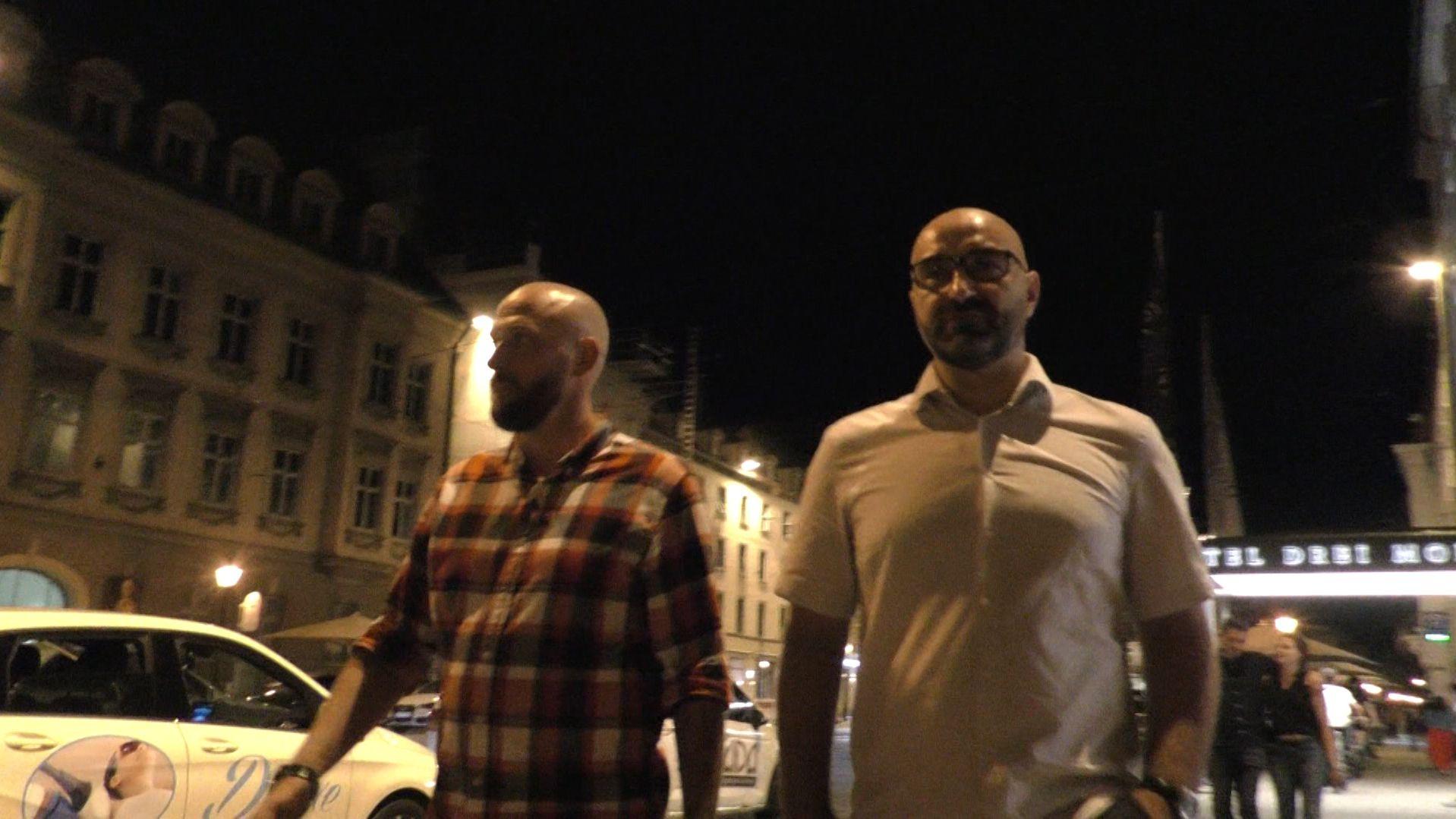 Die Augsburger Nachtmanager Stefan Salz und Alen Maslac