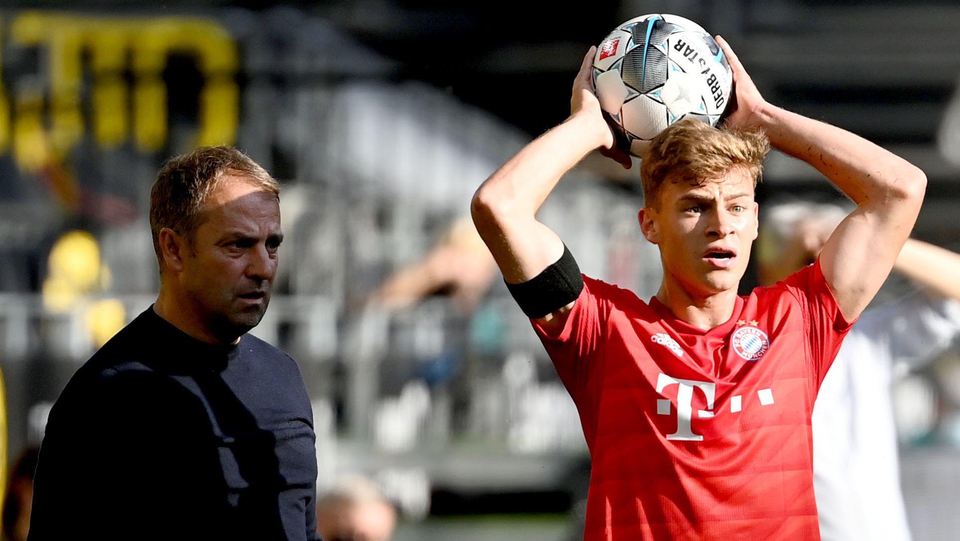 FC-Bayern-Trainer Hansi Flick (links) und Joshua Kimmich