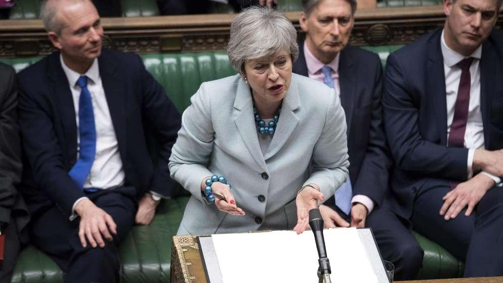 Die britische Premierministerin Theresa May   Bild:picture alliance / Photoshot