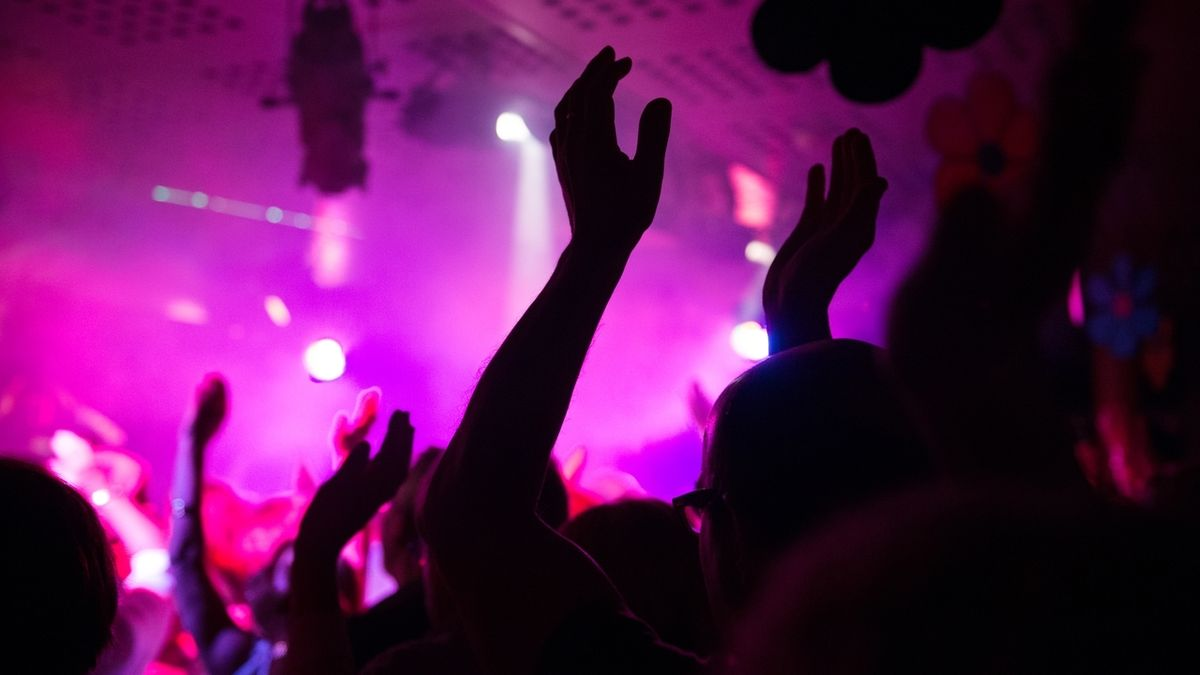 Menschen feiern im in einer Diskothek