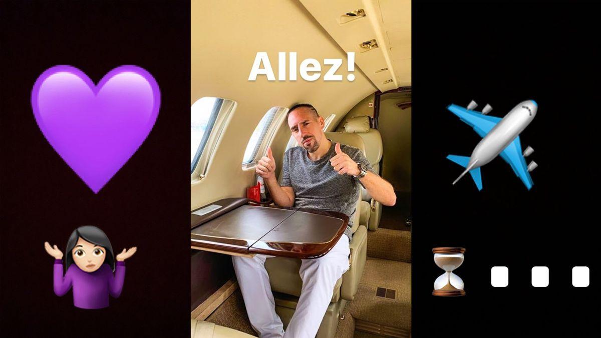 Ausschnitte aus Instagram-Stories von Franck Ribéry und seiner Frau Wahiba