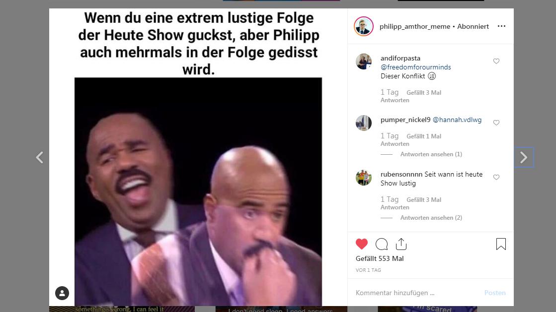 Amthor-Memes auf Instagram