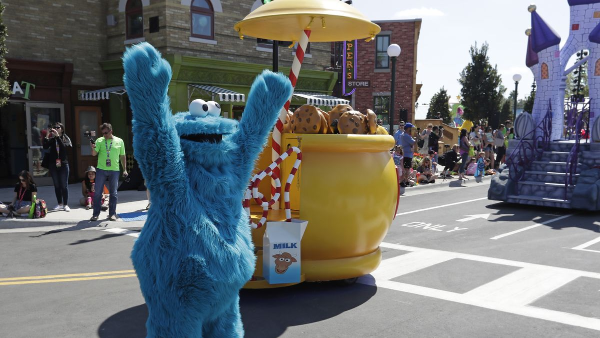 Cookie-Monster mit Cookies.