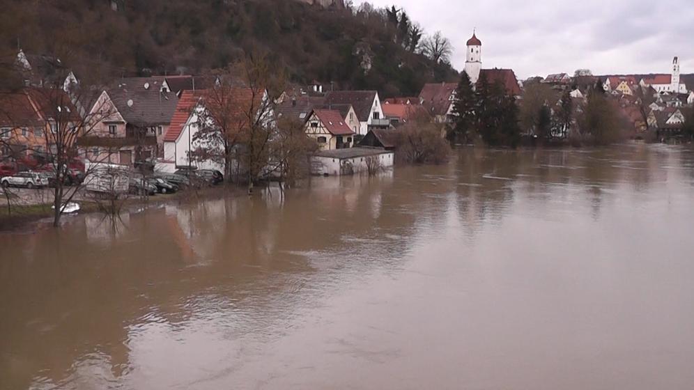 Hochwasser in Harburg | Bild:News5