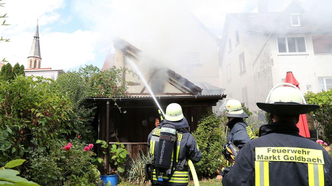 Brennendes Wohnhaus in Hösbach