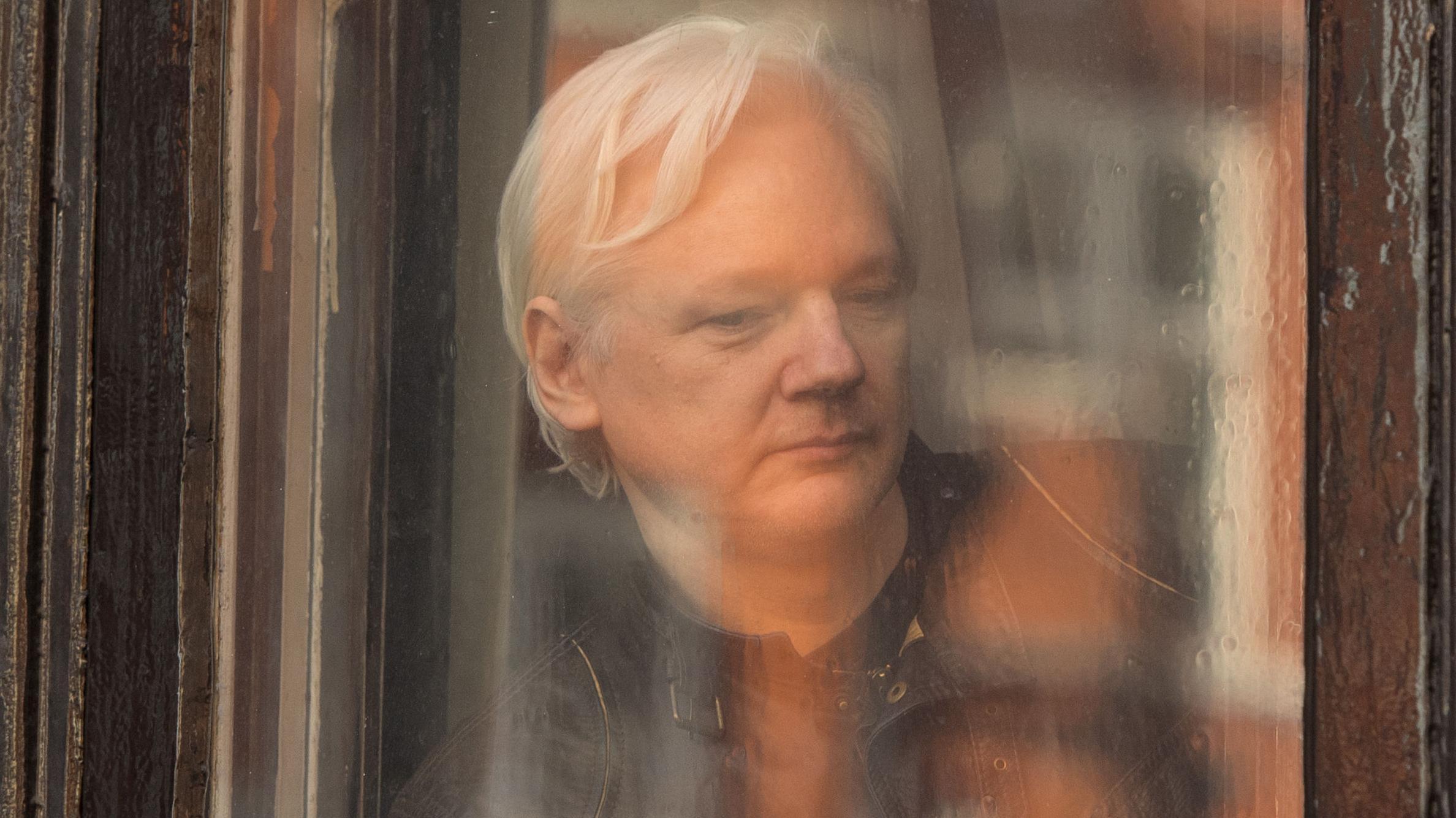 Julian Assange in der Londoner Botschaft Ecuadors