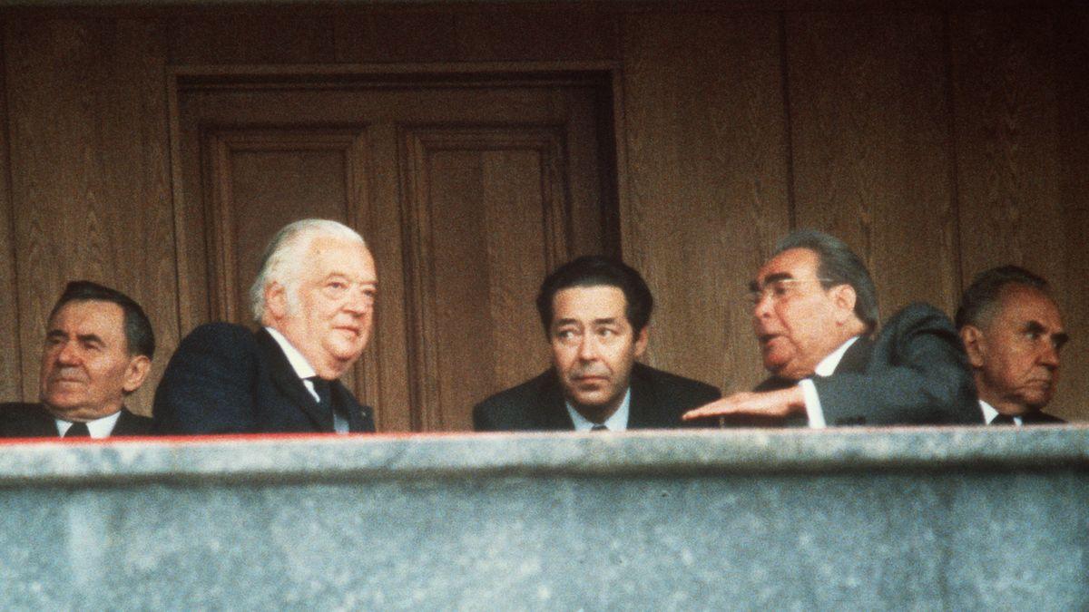 Leonid Breschnew (2. v. Re.), Staatsoberhaupt der Sowjetunion