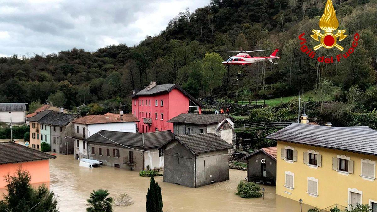 Überschwemmung im Piemont