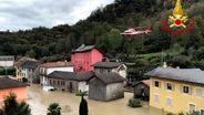 Überschwemmung im Piemont   Bild:dpa-Bildfunk