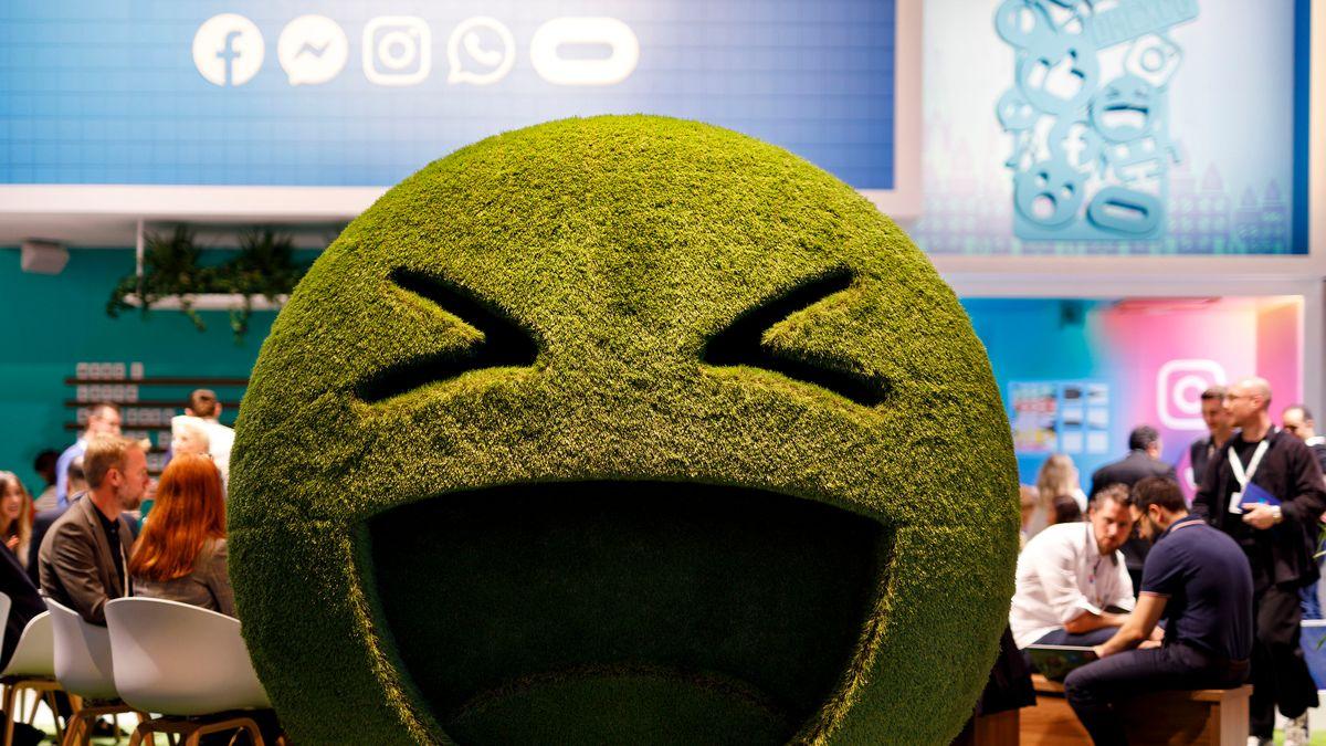 Symbolbild: Smiley auf der dmexco 2019 Fachmesse für digitales Marketing und Werbung auf der Koelnmesse