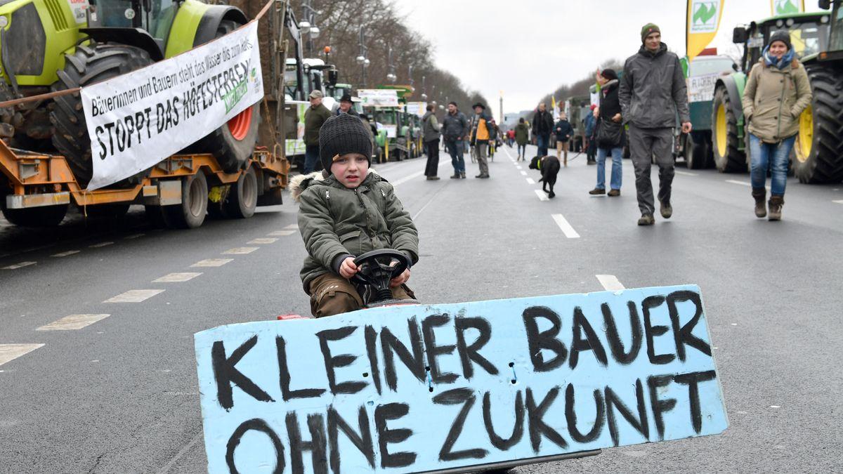 2018 demonstrierten Bauern in der Bundeshauptstadt