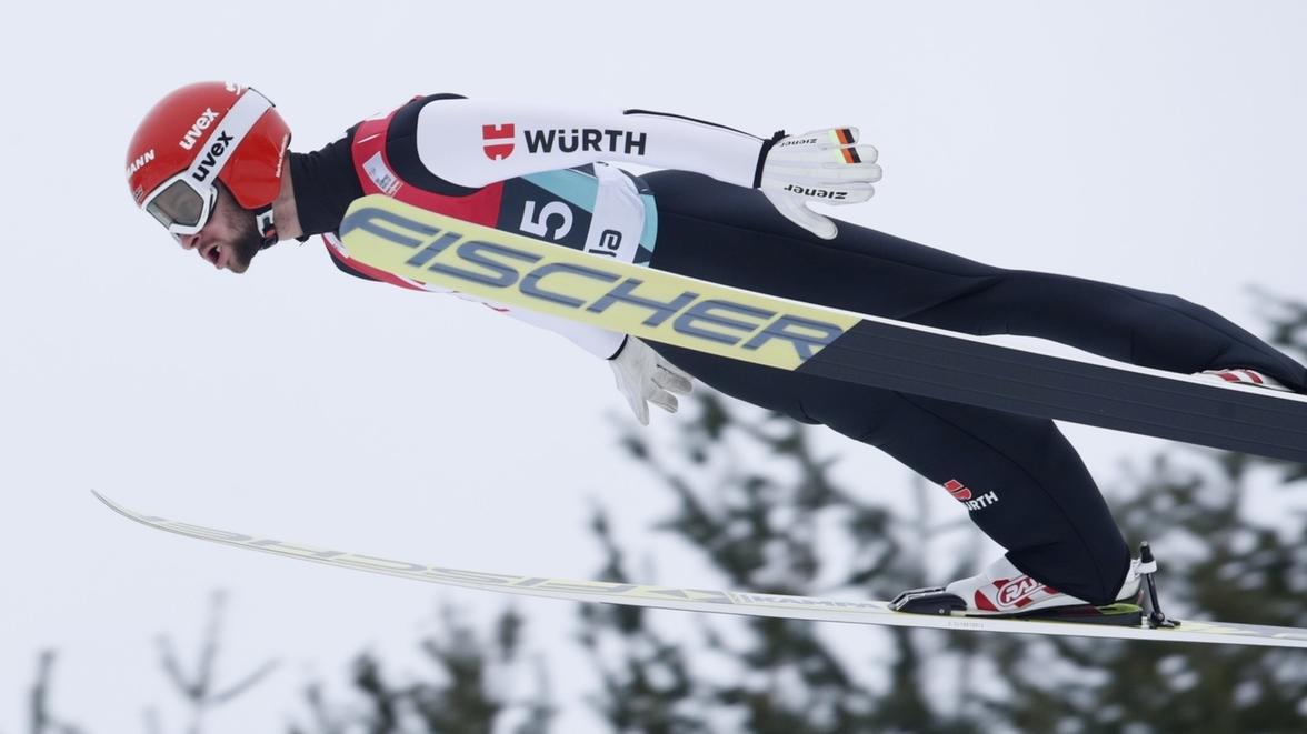 Markus Eisenbichler beim Skifliegen in Vikersund