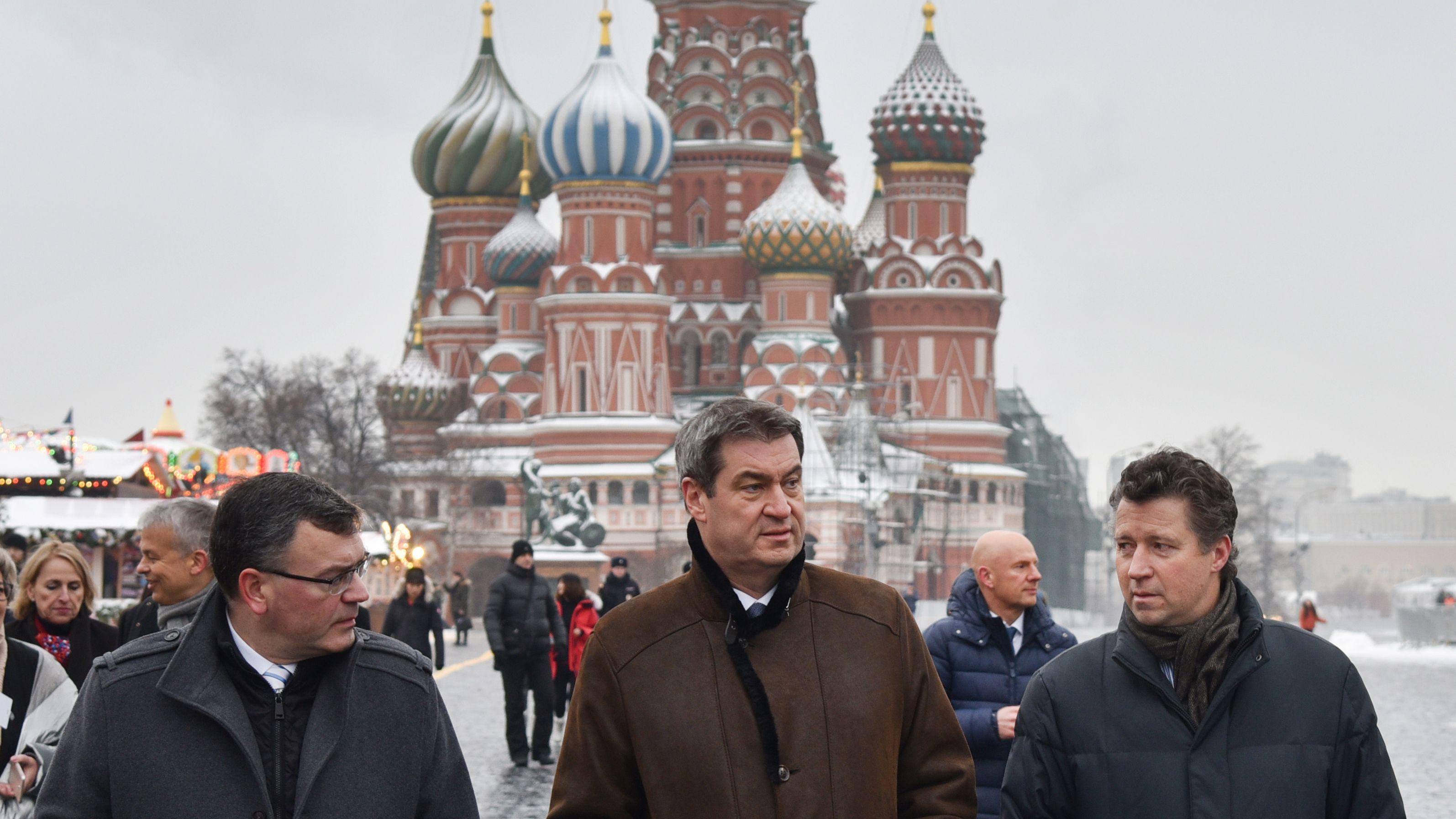 Söder bei Putin in Moskau