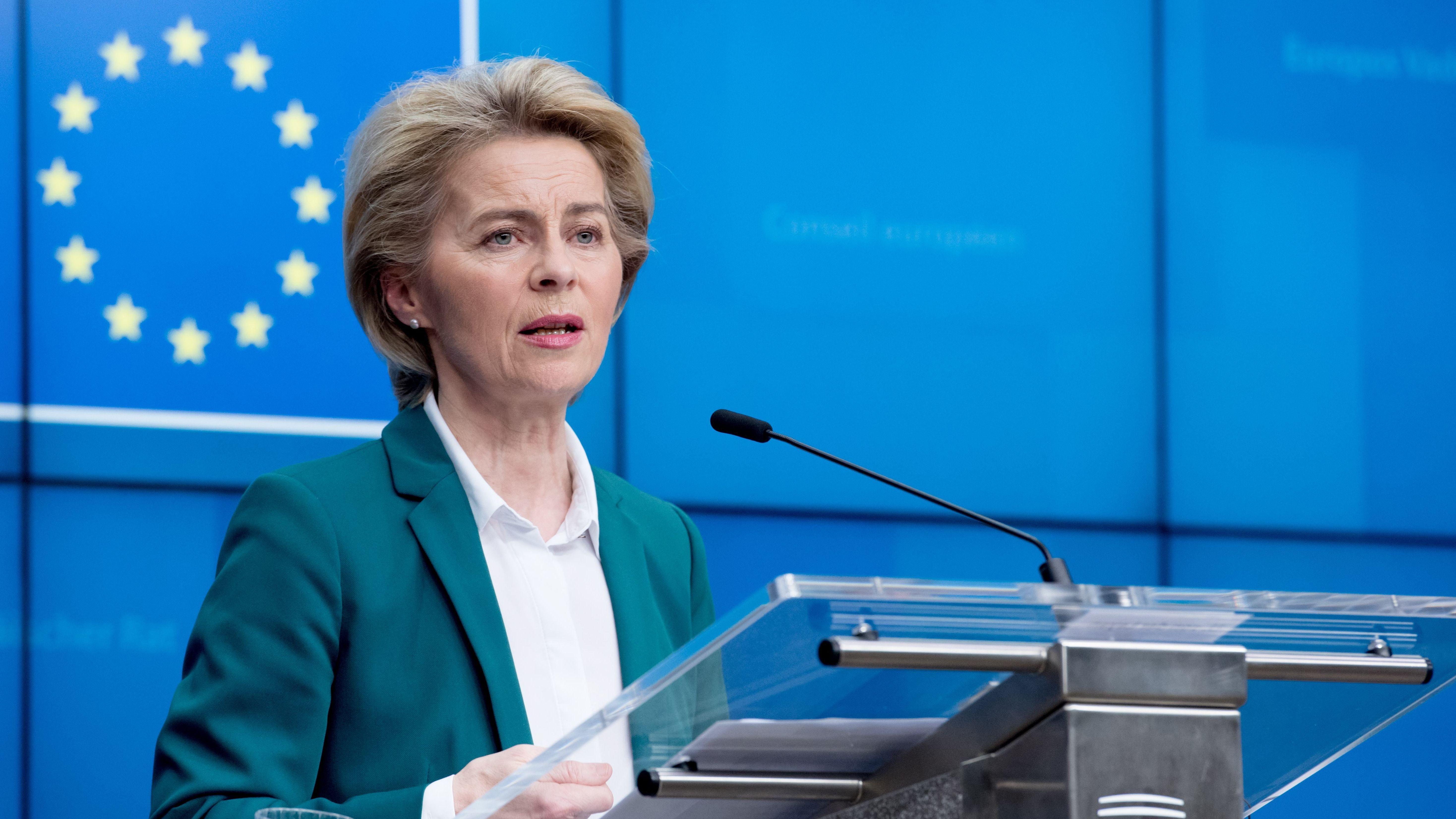 Angesichts der Corona-Krise hat EU-Kommissionschefin von der Leyen vorgeschlagen, den Budgetplan der Europäischen Union zu ändern.