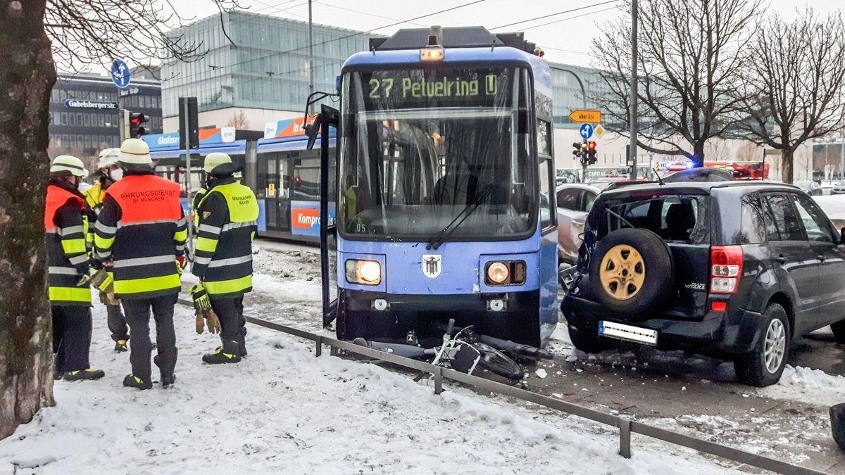 Unfall mit Tram in München