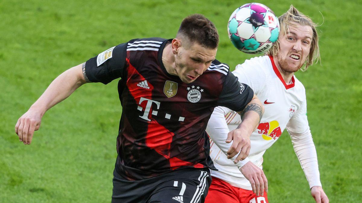 Spielszene Leipzig gegen FC Bayern München.