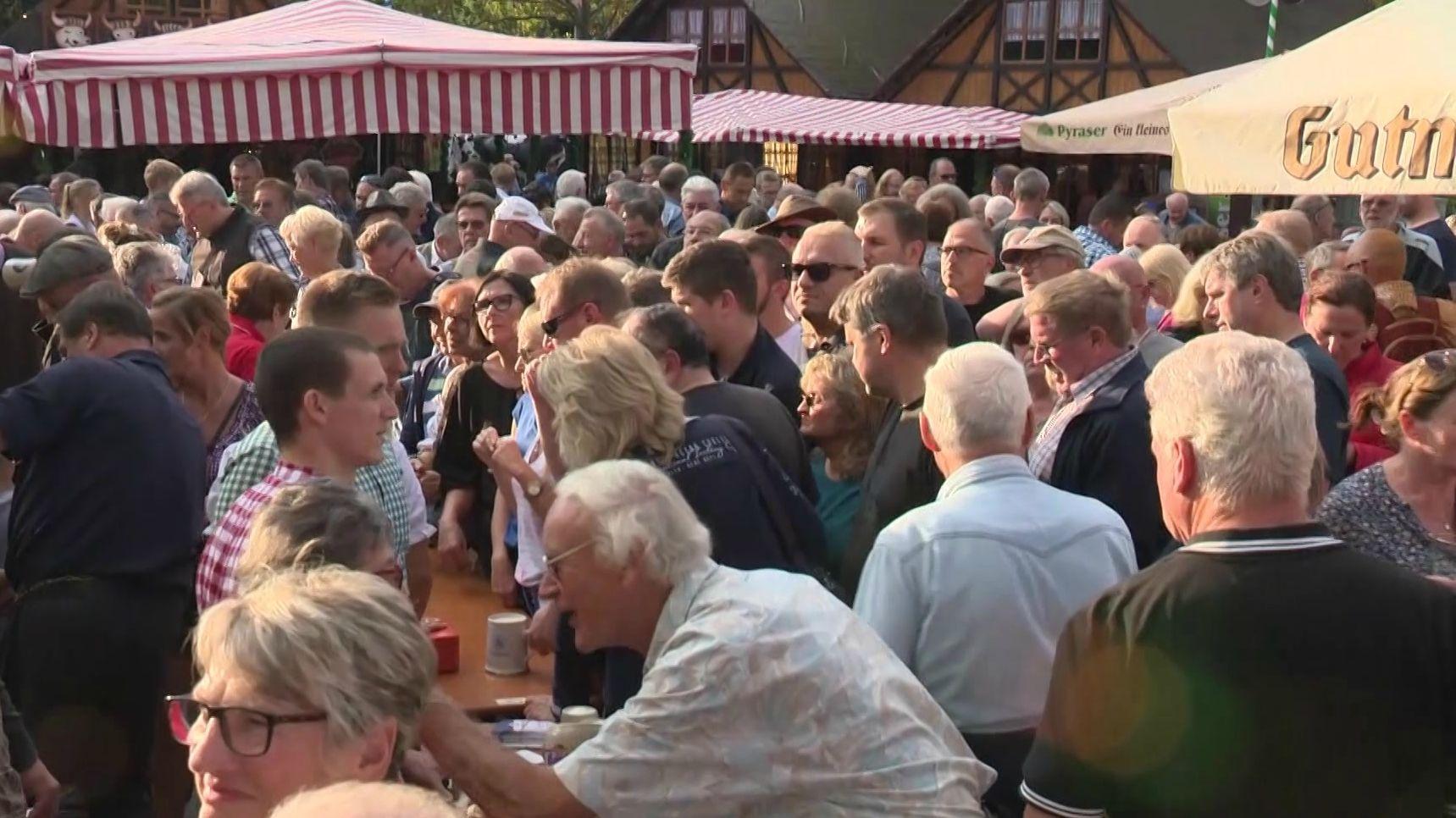 Besucher auf dem Nürnberger Altstadtfest