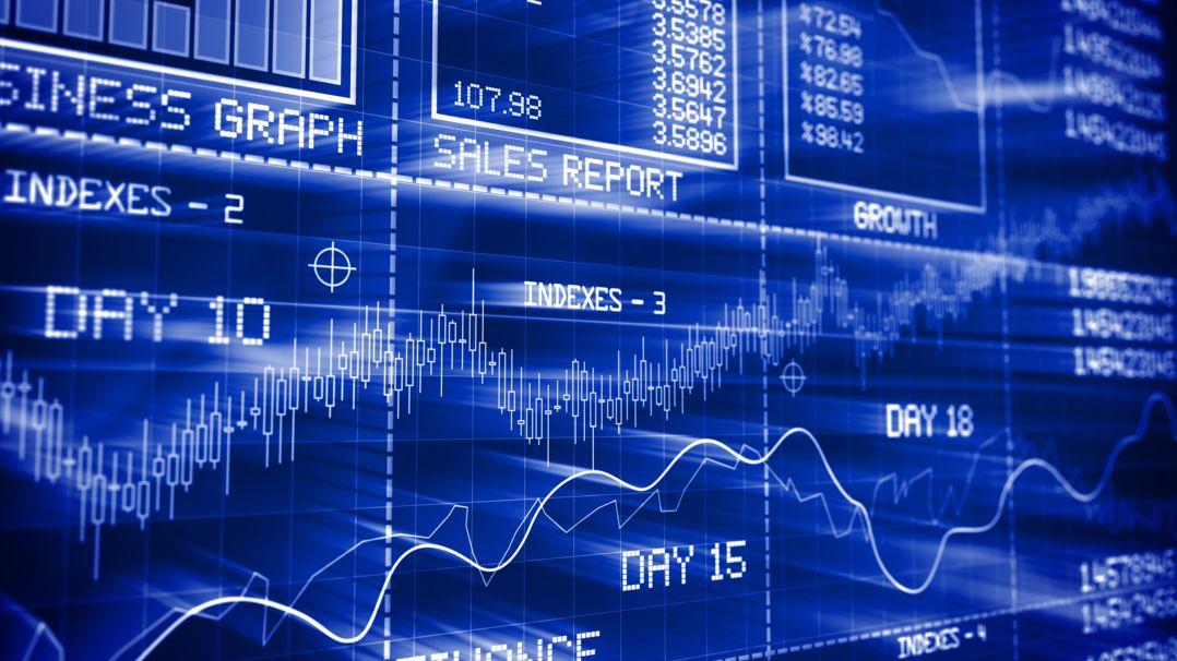 Reportings und Graphen vom Aktienmarkt.