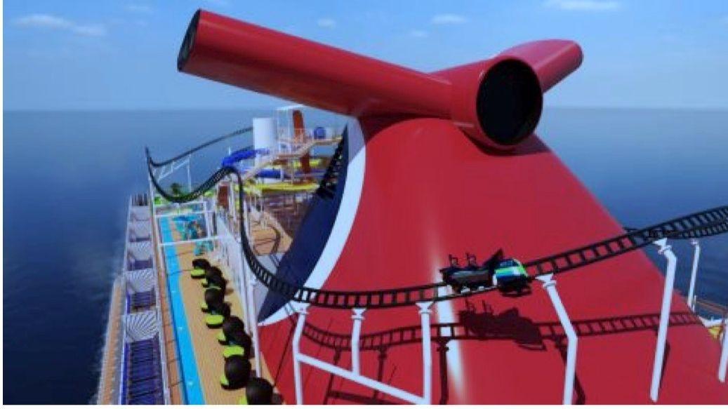 Achterbahn auf Kreuzfahrtschiff