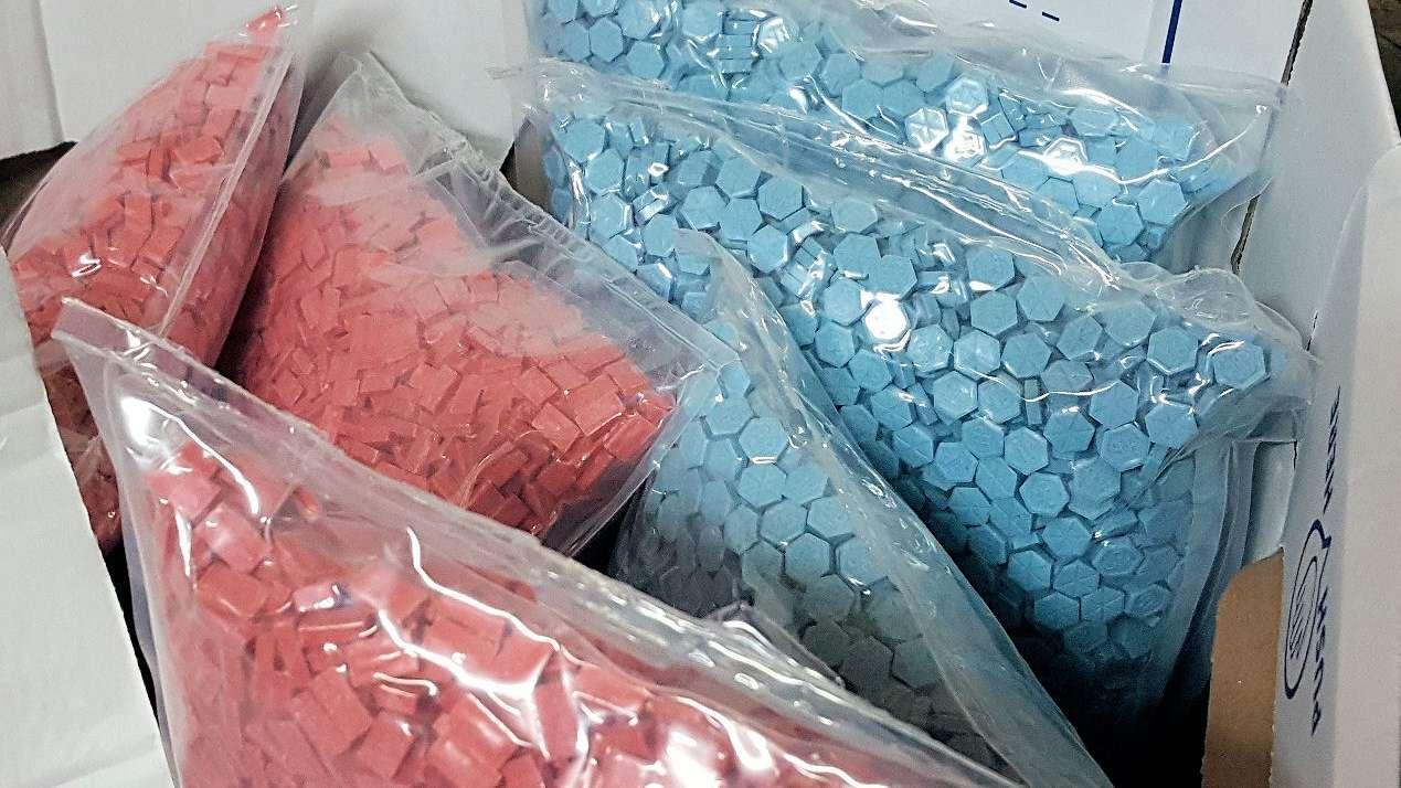 Von Zöllnern entdeckte Ecstasy-Tabletten