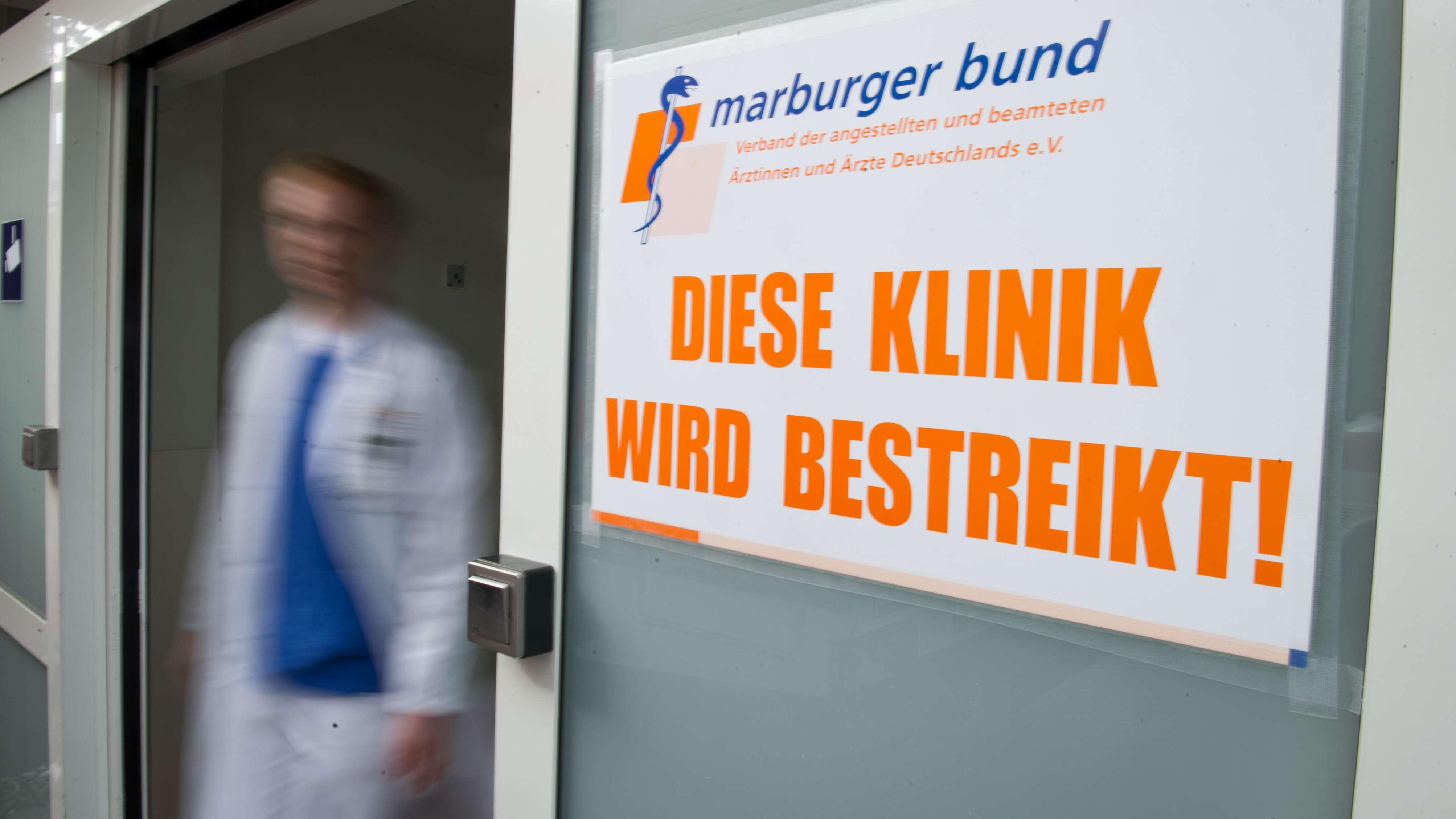 Symbolbild: Klinikstreiks durch den Marburger Bund