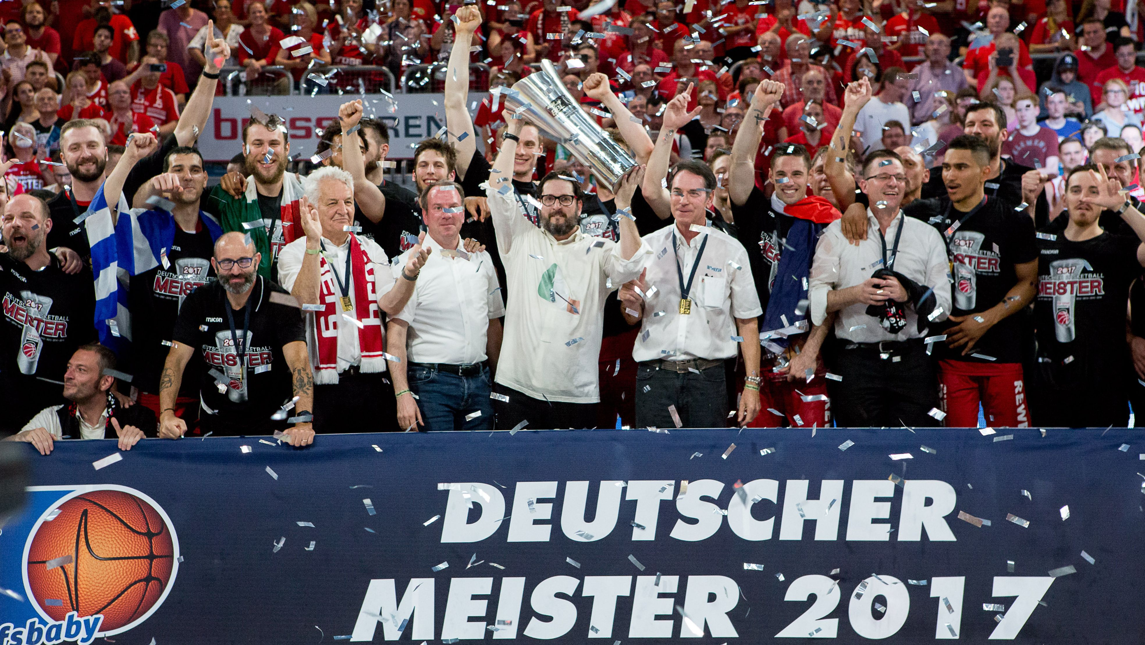 Die letzte deutsche Meisterschaft feierte Brose Bamberg 2017