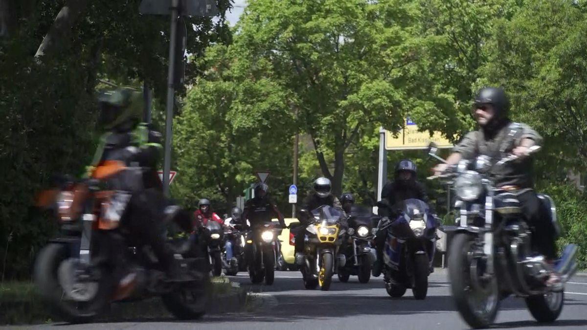 Motorrad-Demo in Schweinfurt