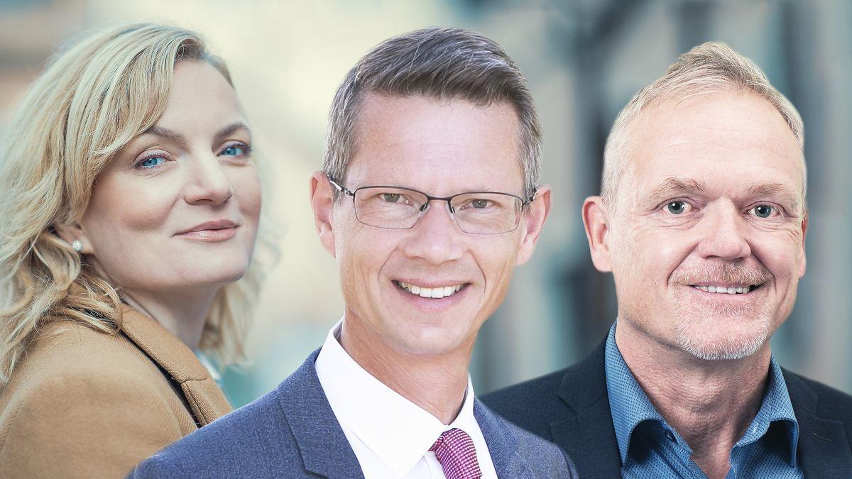 Die drei Anwärter auf den Chefsessel im Schweinfurter Rathaus