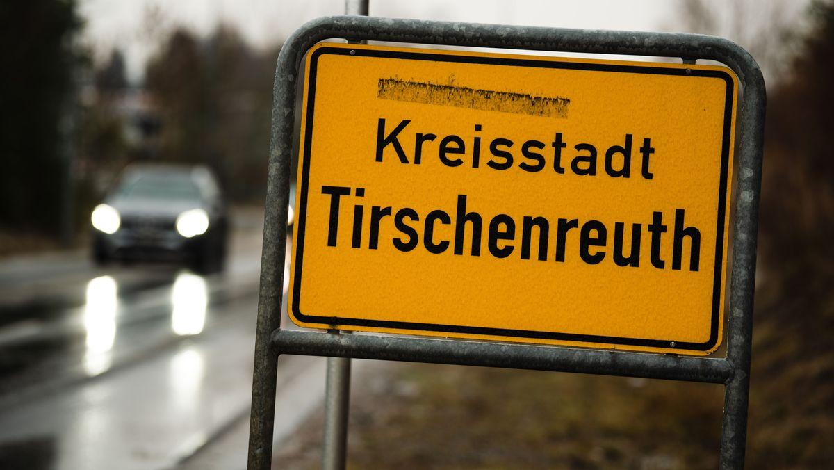 Ortsschild von Tirschenreuth
