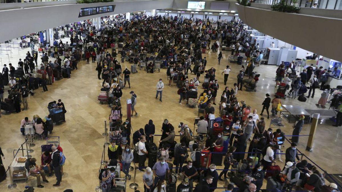 Wie hier auf dem Flughafen von Manila sah oder sieht sieht es auf vielen Ferien-Airports aus ....