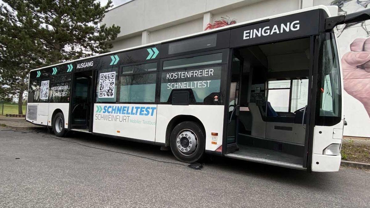 Schnelltest-Bus in Schweinfurt