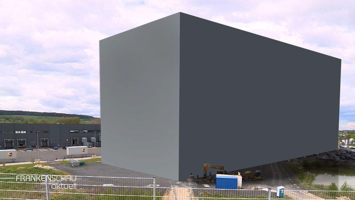 """Ein Kubus für """"Cube"""": 160 Meter lang, 40 Meter breit und bis zu 50 Meter hoch soll das neue Hochregallager des Fahrradherstellers werden."""