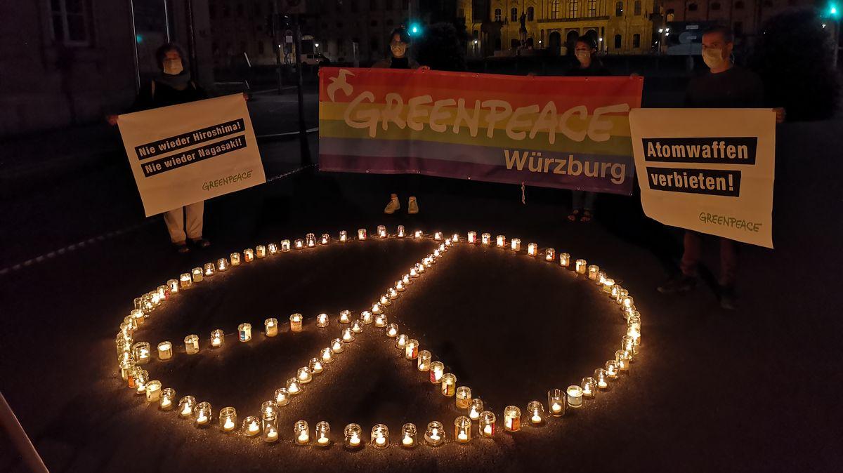 Greenpeace erinnert an Atombombenabwurf von Hiroshima