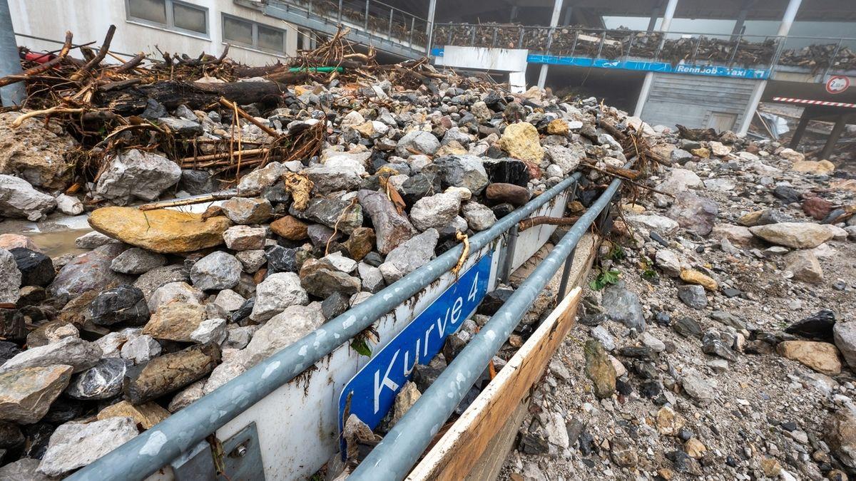 Die völlig zerstörte Bob- und Rodelbahn am Königssee