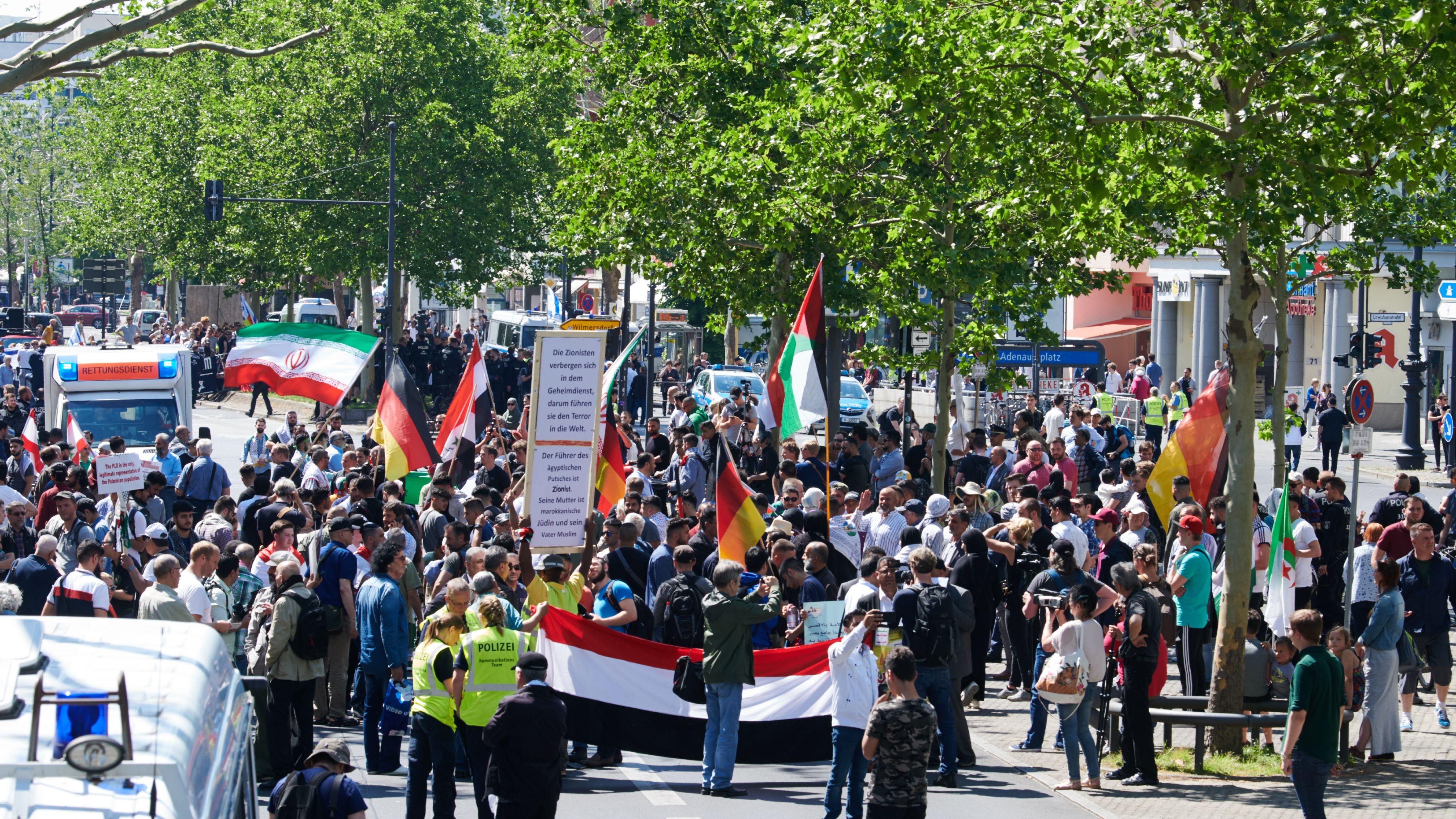 Al-Kuds-Kundgebung in Berlin