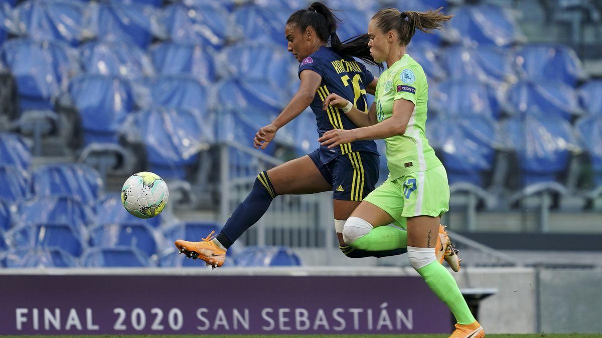 Spielszene aus dem Frauen-Champions-League-Finale 2020