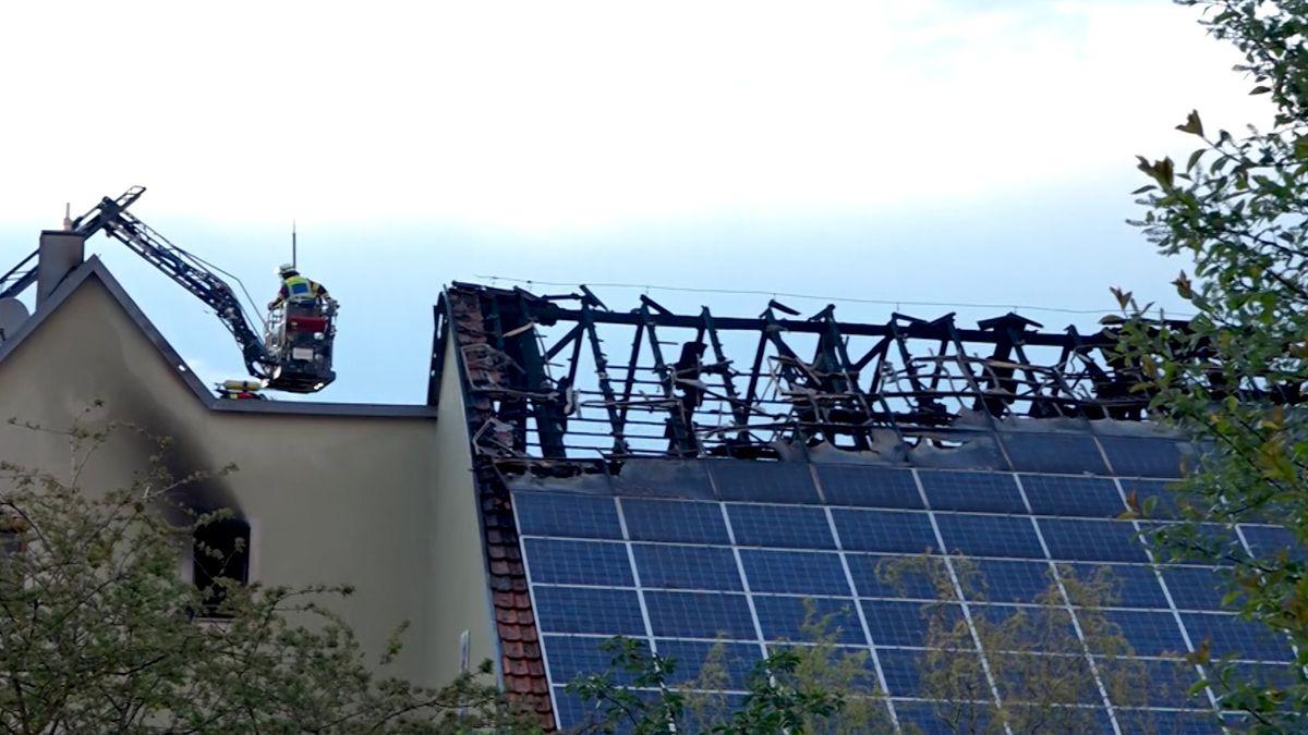 Ein Verletzter bei Dachstuhlbrand in Winterhausen