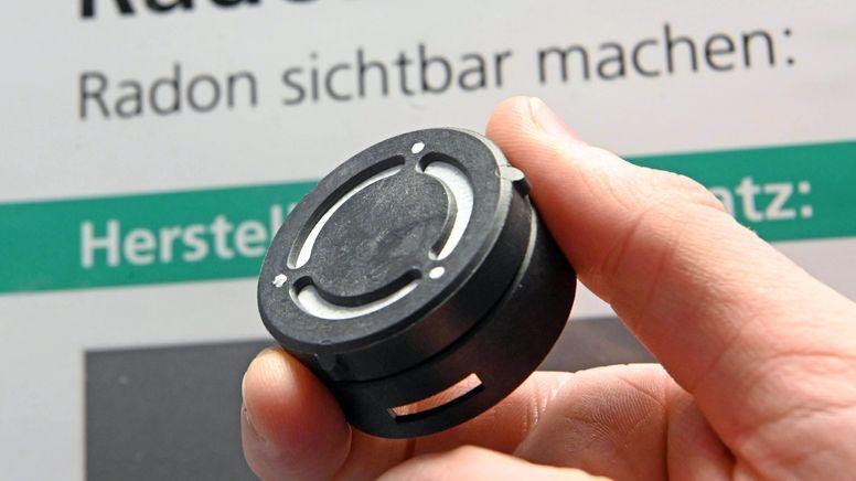 Ein Radon-Messgerät (Symbolbild) | Bild:pa/dpa/Uli Deck