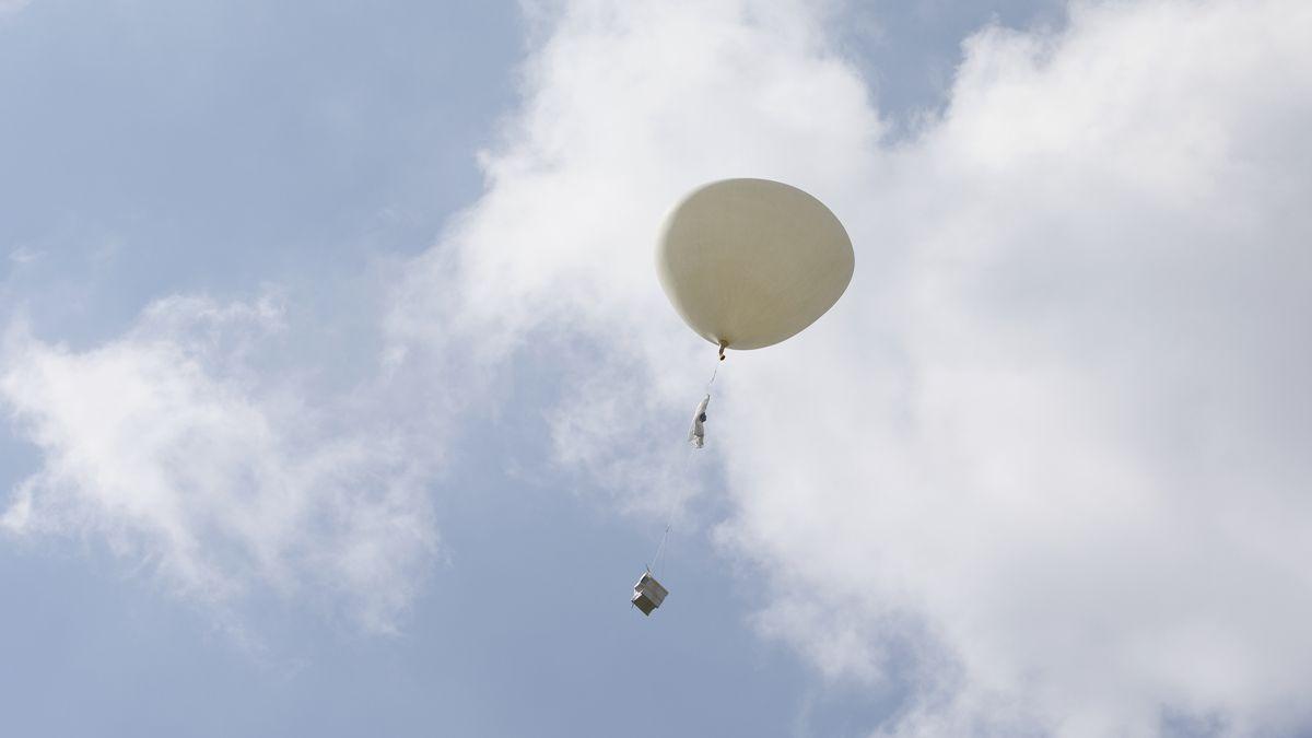 Ballon mit Radiosonde