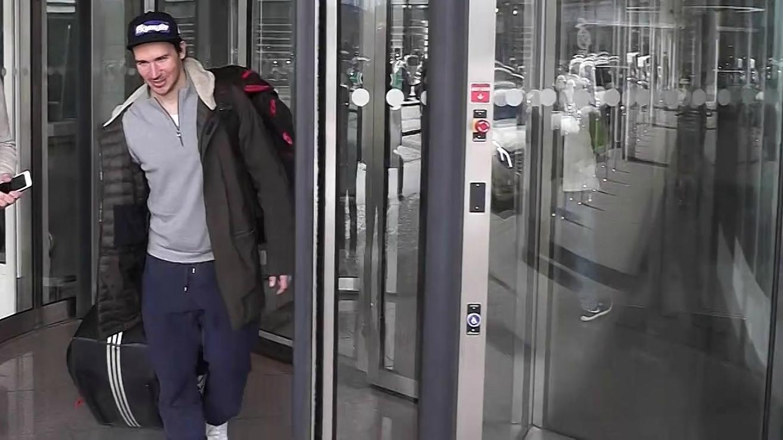 Felix Neureuther bei der Ankunft am Flughafen München