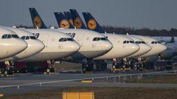 Lufthansa-Flugzeuge | Bild:pa/dpa