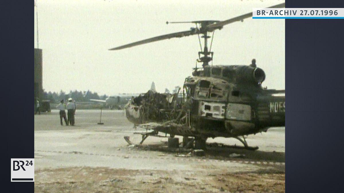 Zerstörter Hubschrauber