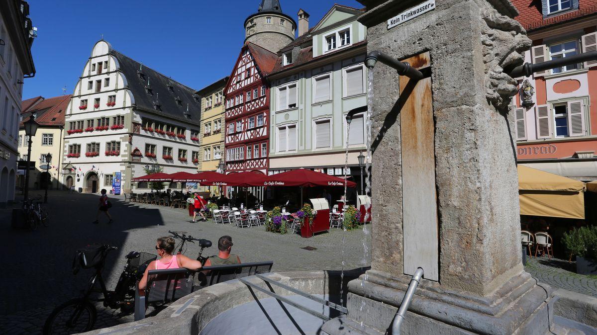 Marktplatz in der Kitzinger Innenstadt