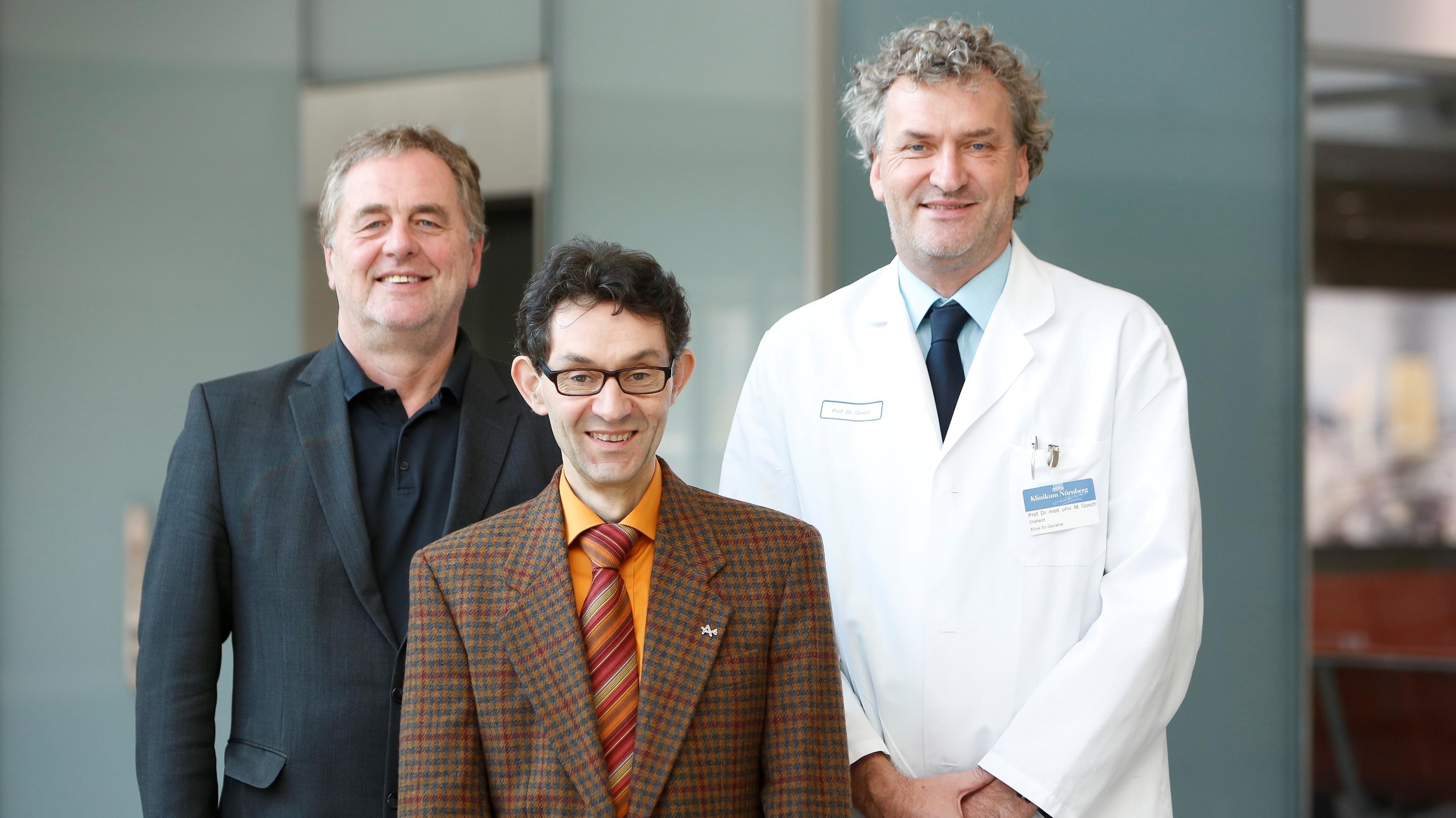 Ausgezeichnetes Forscherteam: Prof. Dr. Frank Erbguth, Prof. Dr. Elmar Gräßel und Prof. Dr. Markus Gosch (v.l.n.r.)