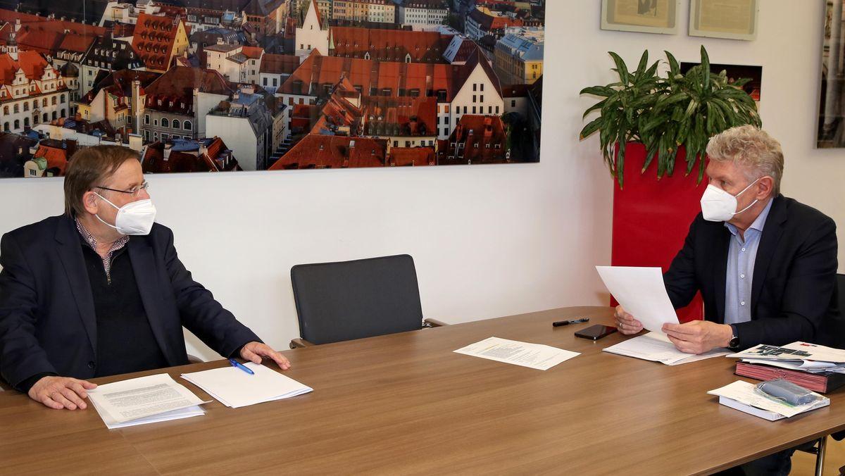 Treffen zwischen Münchens OB Dieter Reiter mit DFB-Vizepräsident Rainer Koch.