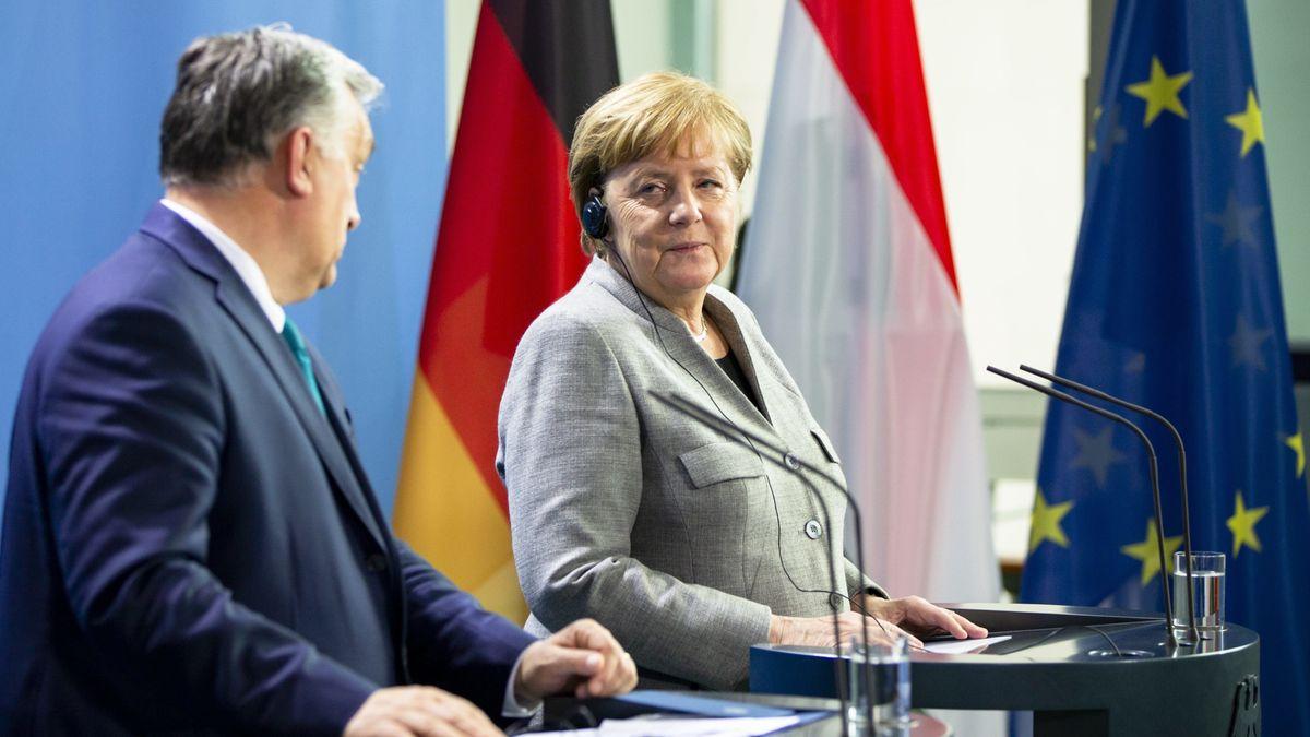 Angela Merkel und Victor Orban