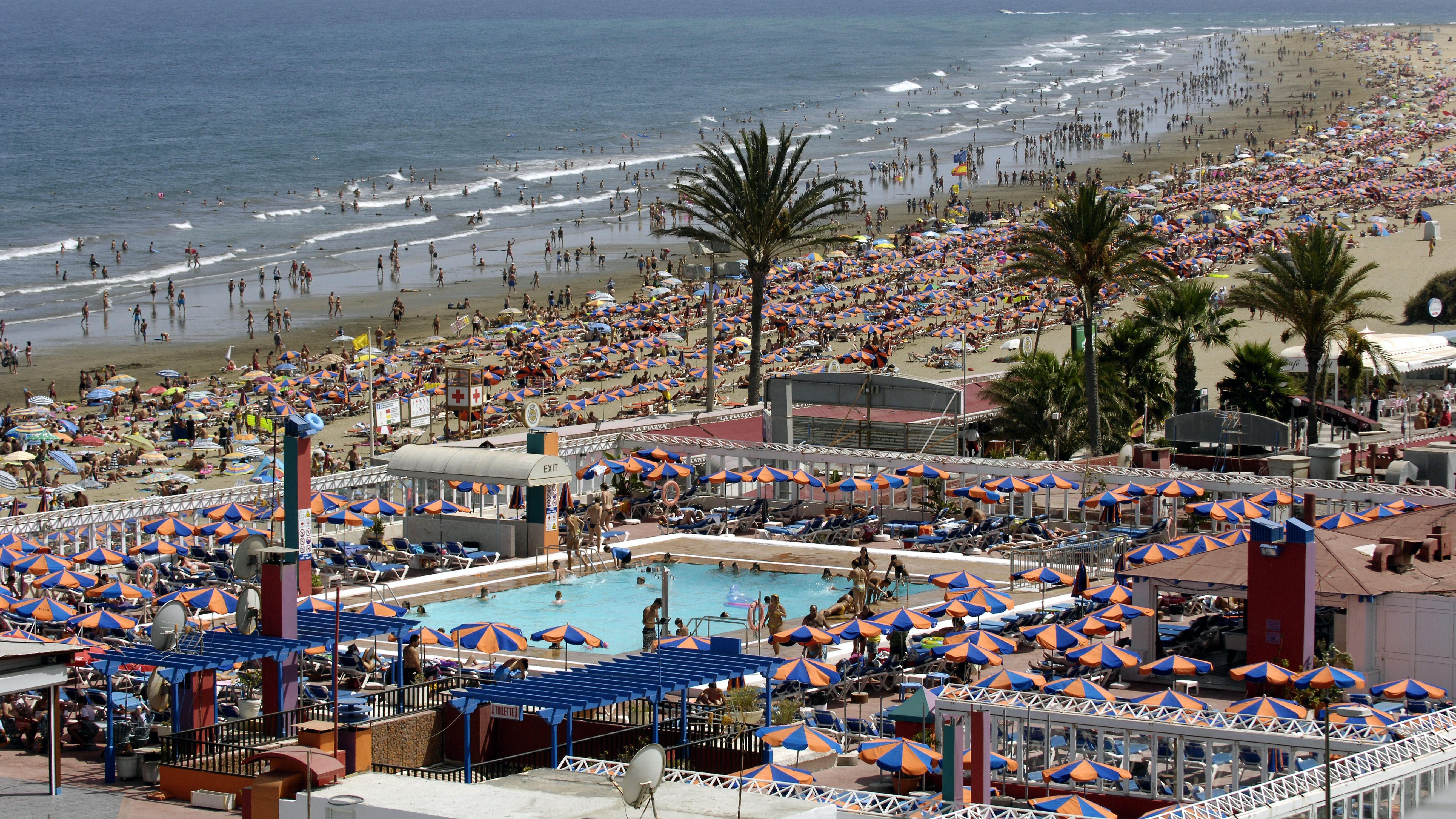 Strand von Playa del Ingles, Kanaren, Gran Canaria