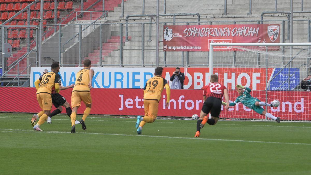 Das 1:0 des FC Ingolstadt gegen Dynamo Dresden