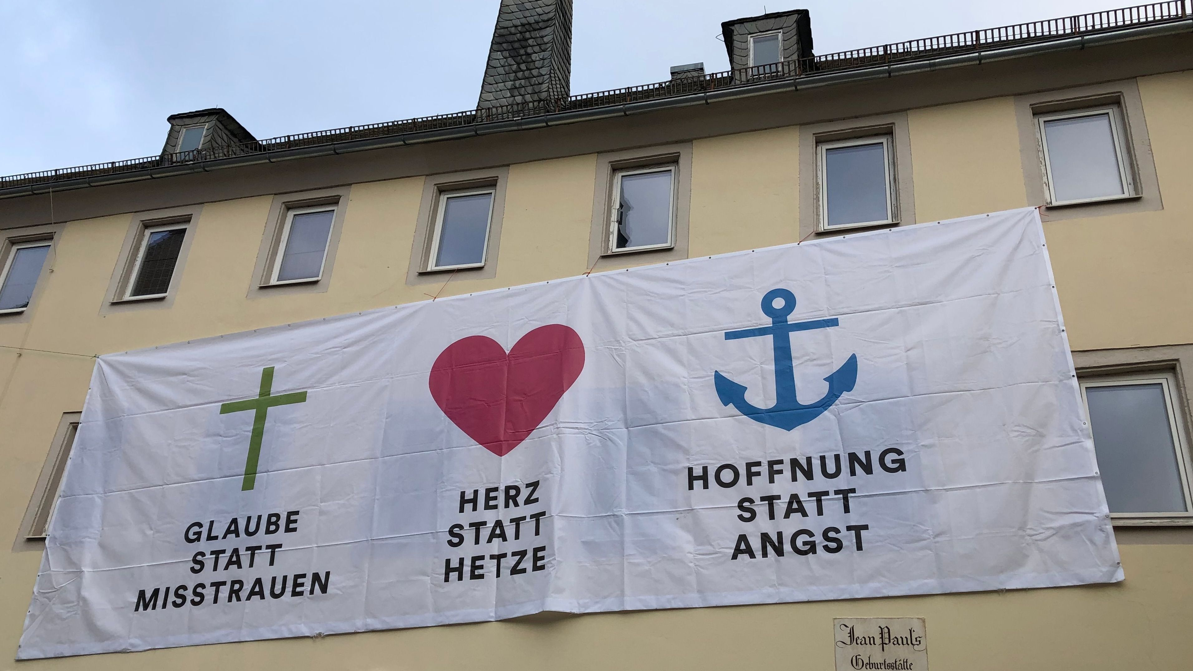 """Plakate von """"Wunsiedel ist bunt"""""""